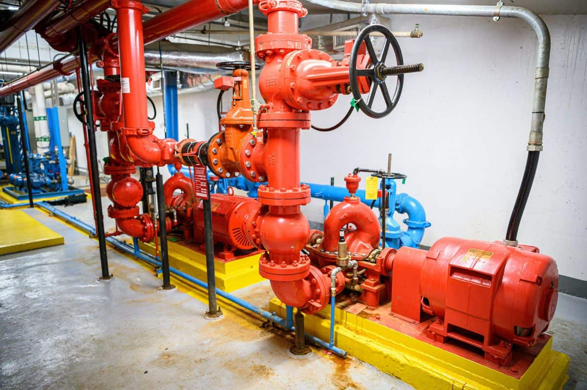 dry pipe fire sprinkler system