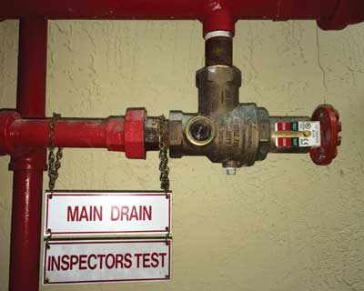 fire sprinkler drains